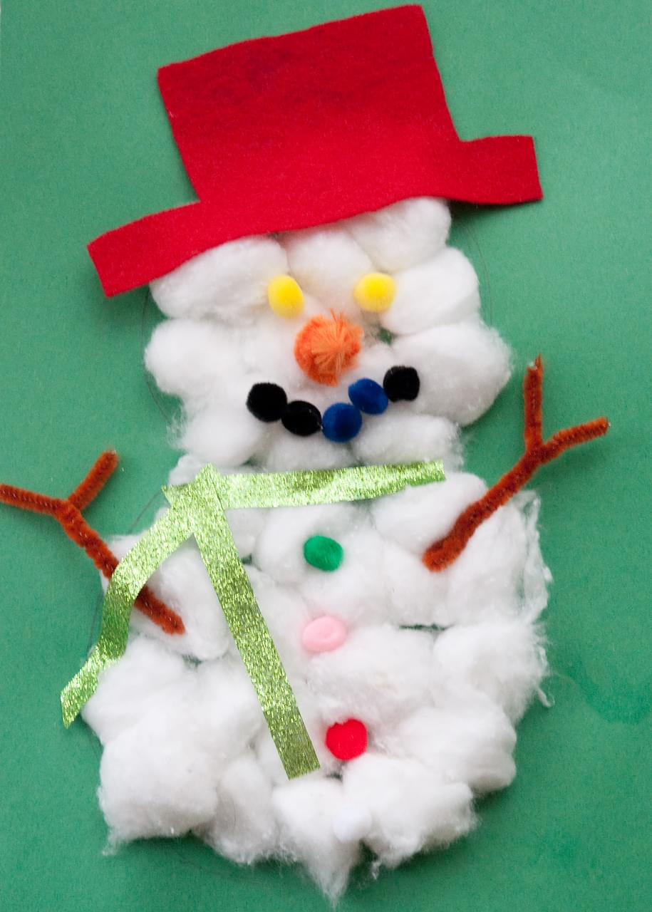 cotton ball snowman cotton snowmen 1362