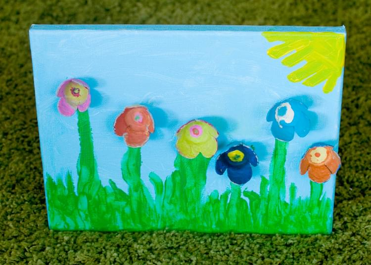 Egg Cup Flower Canvas