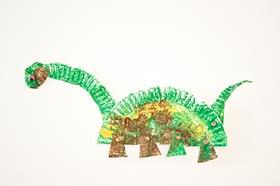 & Paper Plate Dinosaur