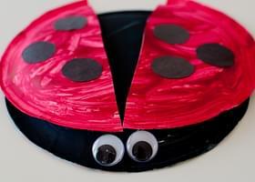 & Paper Plate Ladybug