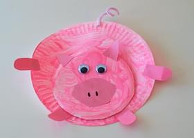 & Paper Plate Piggies