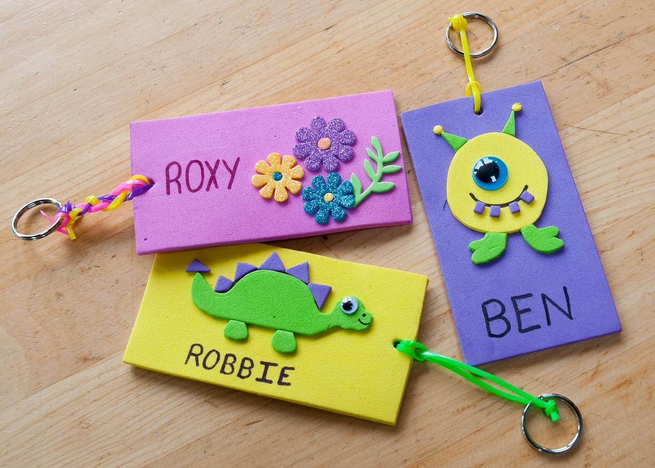 arts and crafts name ideas foam name tags 5900
