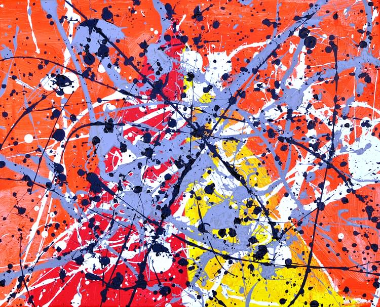 Splatter Paintings - Pollock Style