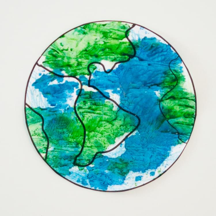 Melted Crayon Earth