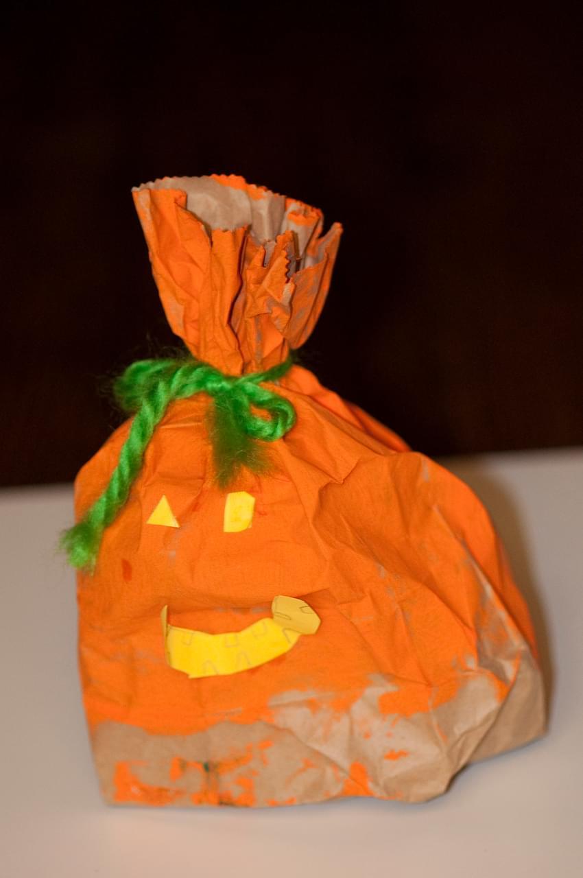 Paper Bag Jack O Lantern
